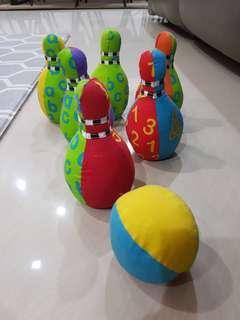 Mothercare spongy bowling set