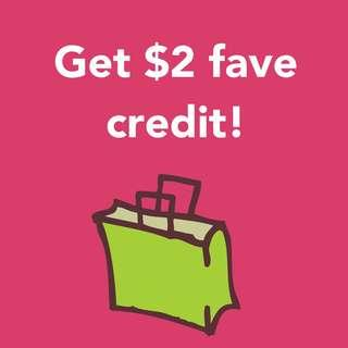 $2 fave credit!