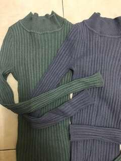 Knitted Soft Color Long Sleeves