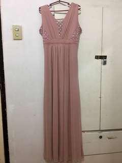 Old Rose Long Gown For Sale