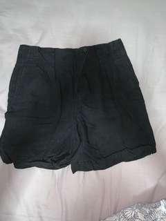DKNY Black linen Shorts