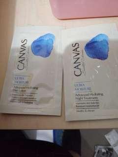 Canvas Ultra moisture day cream and night cream, $5@1