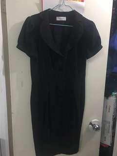 黑色間條連身裙