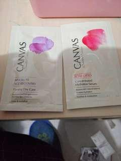 Canvas Rose Otto concentrated hydration serum and absolute age recovery Firming day care, $5@1