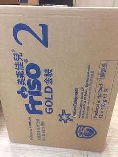 最新鮮原箱美素佳兒2號400g12罐