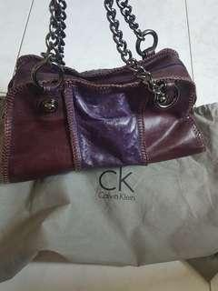 Reduced to clear! Calvin klein limited edition full leather boston bag
