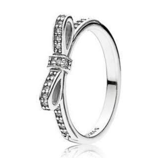 Sparkling Silver Bow Ring - PANDORA