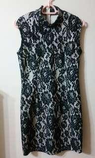 Cheongsam Style Black Dress Size S