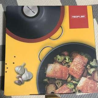 """Neoflam stainless steel wok 30cm / 12"""""""