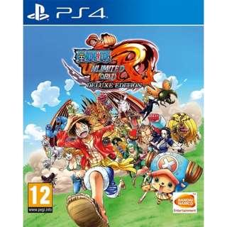 PS4 One Piece Unlimited World Red Deluxe Edit. (Eng.Ver.) / PS4航海王 無限世界:赤紅 (英文版)