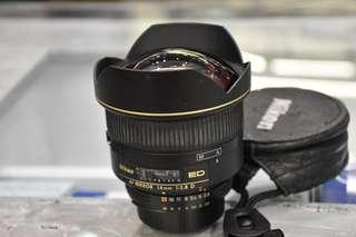 Nikkor 14mm f2.8D lens