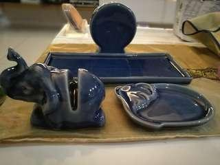 Thailand Handmade Ceramic Elephant Set