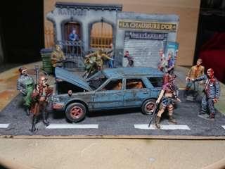 Road rage zombie attack! 1/35 Scale horror apocalypse scene