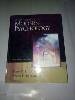 A History Of The Modern Psychology