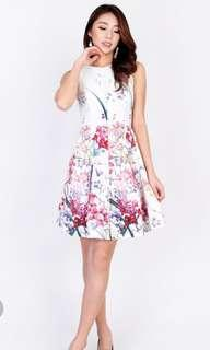 MGP Label Presley Floral Dress in White