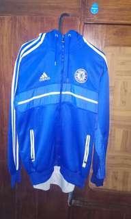 Hoodie jaket bola Chelsea