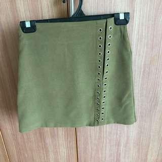 🚚 BN Army Green Lace-up Skirt