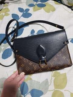 Auth lv Louis Vuitton monogram noir st michel michael