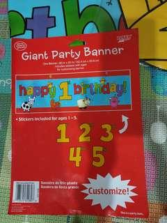Giant party banner