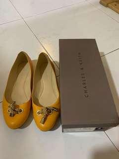 Charles and Keith Flats in Mustard