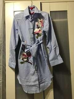 Strip Shirt Dress