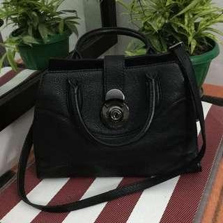 Authentic Breal Black Hardware Sling/Hand Bag