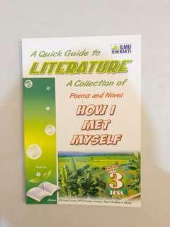 "Collection of poem and novel ""how I met myself "" form 3"
