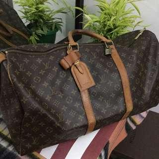 Authentic Louis Vuitton LV Keepall 55 Travel Bag
