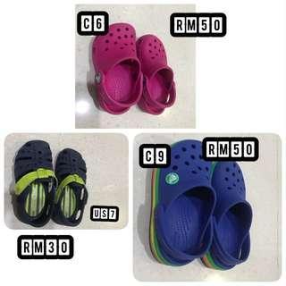 Crocs & Stride ride shoes