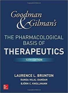 Goodman and Gilman's The Pharmacological Basis of Therapeutics 13th Edition