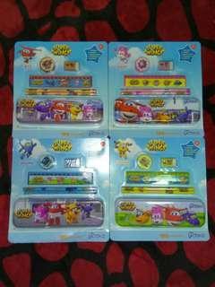 Super Wings pencil box set