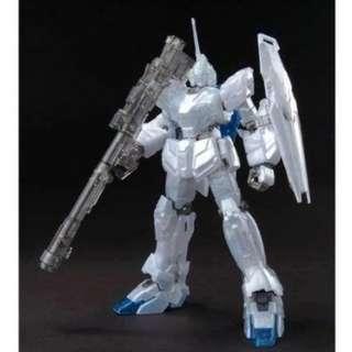 請看推廣優惠 全新未砌 劇場限定 珍珠色 Bandai HG 1比144 RX-0 Unicorn Gundam UC 獨角獸 高達模型 2