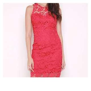 Brand New Red Lace Dress (Beautiful piece!)
