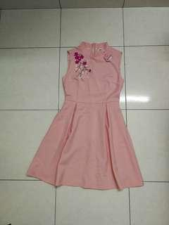 Brand new with tag pink modern cheongsam my little bear
