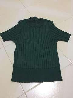 Forest Green Knit Top