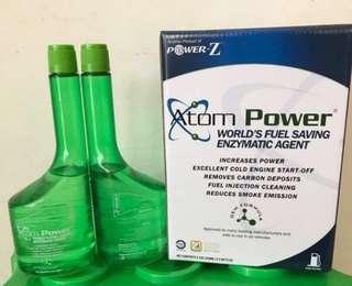 Atom power, fuel saving, fuel efficiency - 1 box has 2 bottles