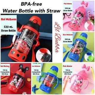 [Ready Stock] BPA-free straw water bottle, straw training cup