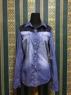 Denim Shirt bershka/ Kemeja denim