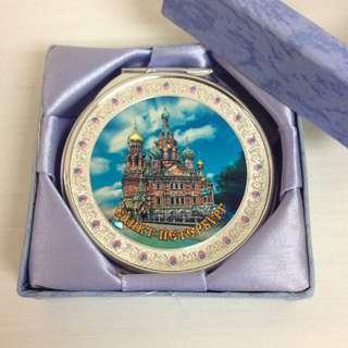 聖彼得堡 銀色鏡盒 (雙鏡) 連盒 (全新) 購自俄羅斯
