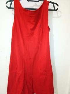 Hush puppies dress merah katun ori