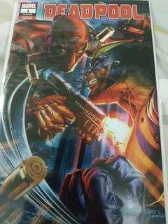 Marvel comics Deadpool 1 greg horn variant