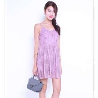 921172ced95 BN Neonmello Crochet Dress in Deep Lilac