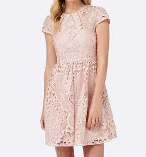 Forever New Jessica Lace Prom Dress Blush