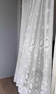 Full length lace curtains