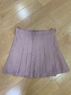 粉紅色A字百褶裙
