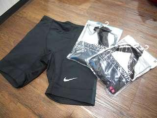 Nike Running Tights, Uniqlo Compression Shirt & Tights