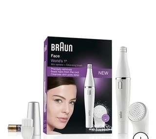 (98% new)Braun百靈牌防水面部脫毛及潔面器
