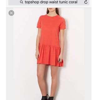 Topshop drop waist tunic / dress / smock UK8 #JAN50
