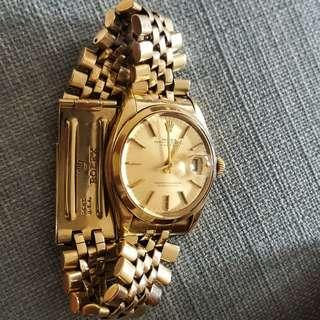 Rolex yellow gold watch date Vintage 80s