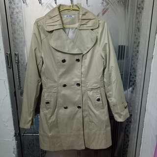 🚚 長版雙排扣風衣外套